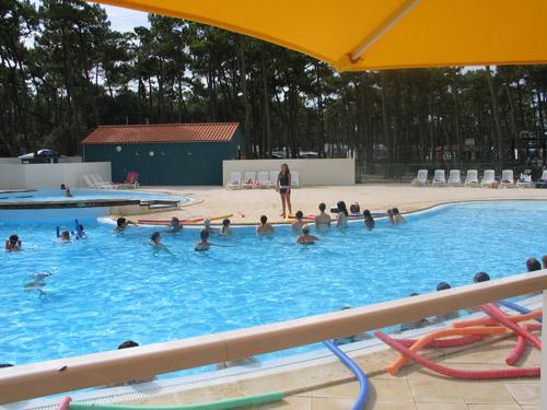 Camping avec piscine chauff e saint hilaire de riez vendee for Piscine blomet aquagym