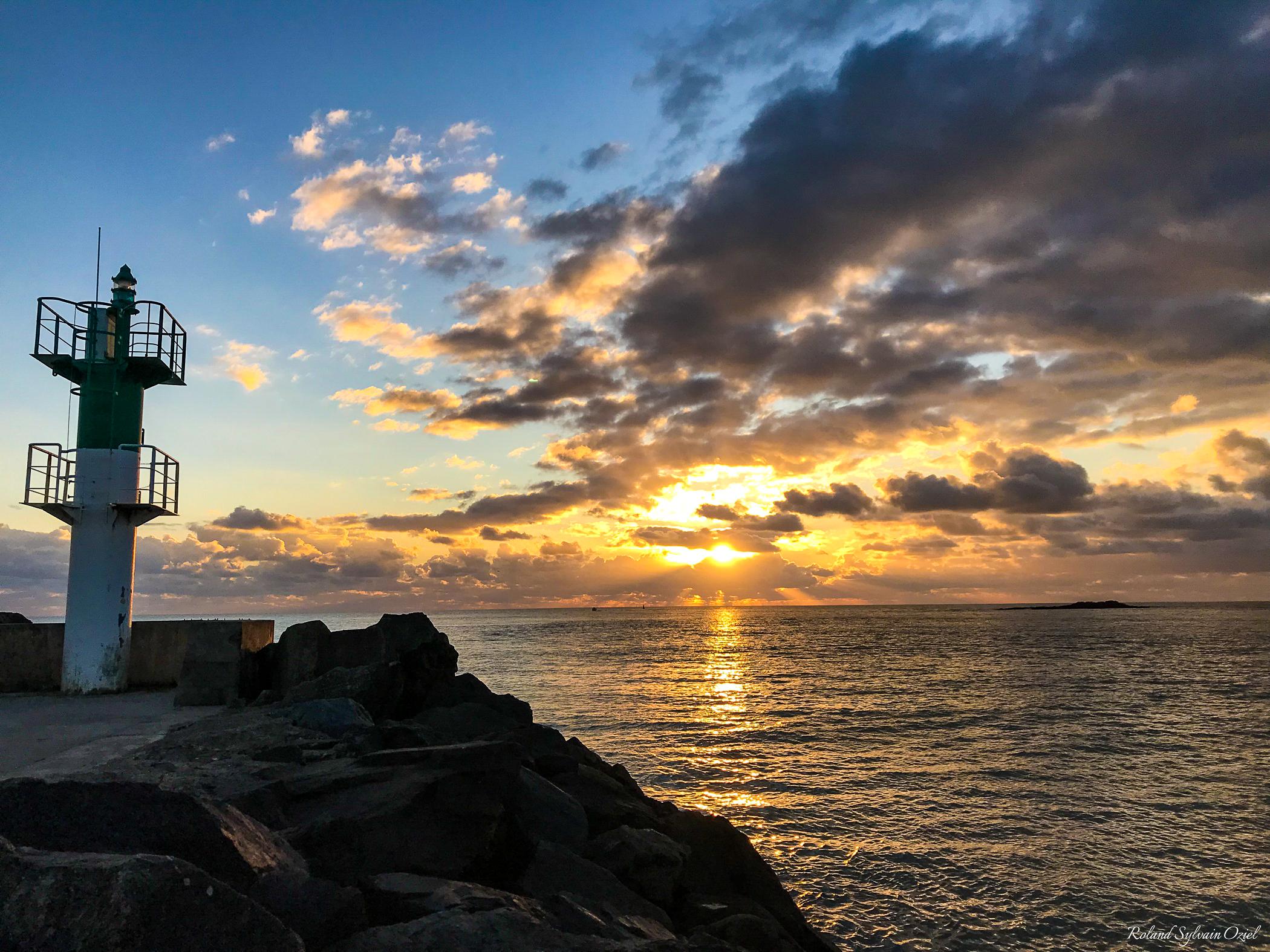 coucher de soleil près du camping en Vendée